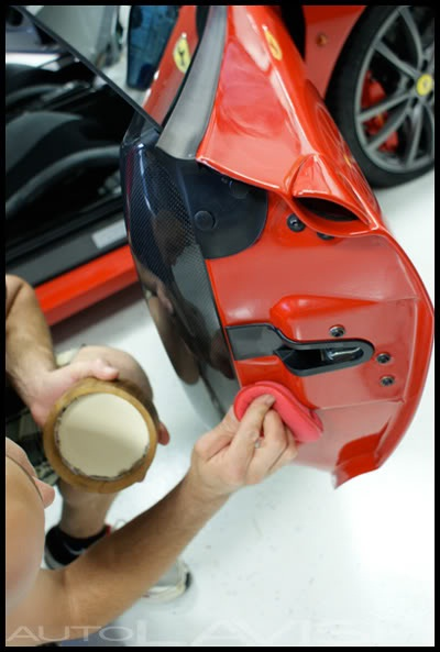 dodo juice supernatural being applied to a ferrari