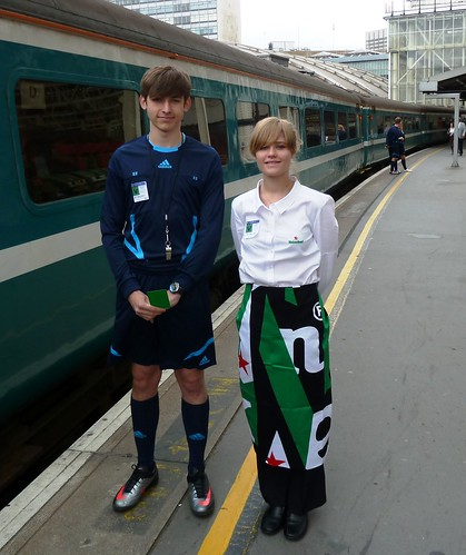 Charter Train - Heineken to Wembley Stadium, 'ref' and stewardess