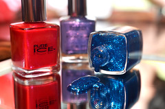 Oops ! (Just Joe ( Trying to catch up after tax season)) Tags: blue red colors sparkles reflections lavender oops nailpolish 365group odc2 ourdailychallenge