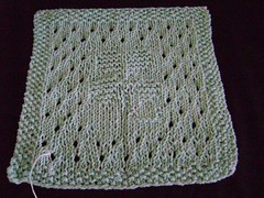 Clover (BETSY023) Tags: knitting dishcloth cotton kal