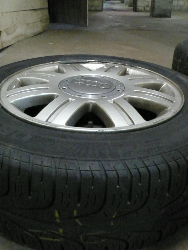 15'' 8 spoke OEM Audi A4 wheels + tires