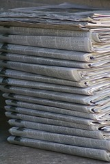 Newspapers, by Flickr user valeriebb
