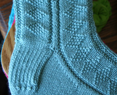 Diamond Gansey Sock Closeup 102807