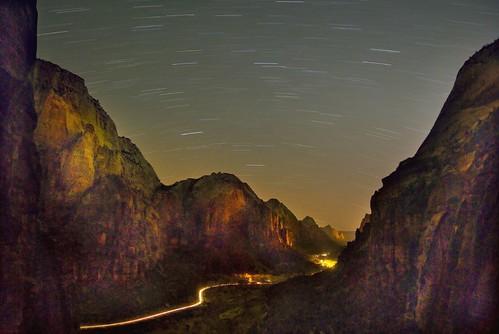 Zion Canyon at Night
