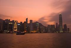Sunset over the Peak (jazzpic) Tags: sunset sky orange skyline clouds hongkong nikon central 1755mmf28g d200 ifc admiralty bankofchina cheungkong jardinehouse abigfave anawesomeshot msimons