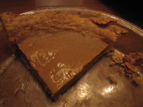 The remains of Kristin's first pumkin pie