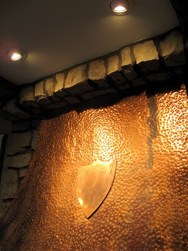 fireplace hood with lights