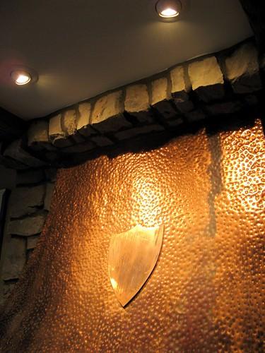 fireplace hood with lights