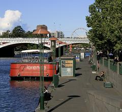 lampostsss (Kilego) Tags: bridge ferry boat pattern melbourne lamposts lampposts yarrariver leadin
