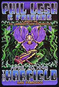 Phil Lesh and Friends poster - April 20, 1998, The Warfield, San Francisco