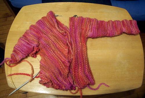 ran out of yarn - argh!
