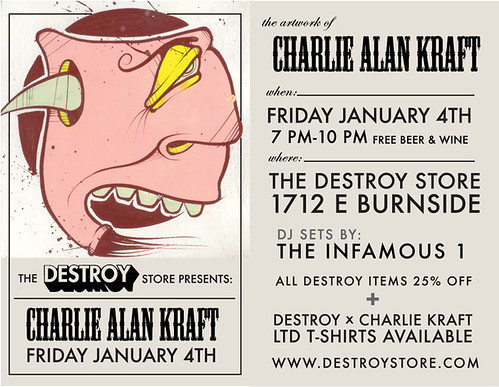 Charlie Alan Kraft at the Destroy Store