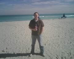 Me, the beach, cold.