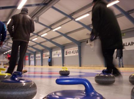 Toma del curling desde el suelo