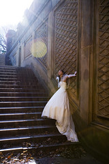 (* raymond) Tags: nyc wedding portrait newyork bride dress centralpark lensflare
