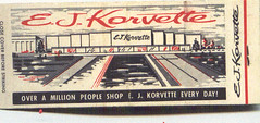 E.J. Korvette's Matchbook Cover (slade1955) Tags: departmentstore matchbooks korvettes
