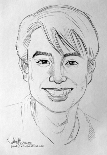 guy portrait pencil sketch 5