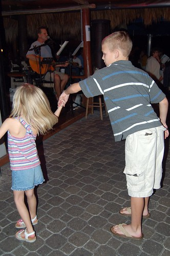 Sydney twirling with Dylan