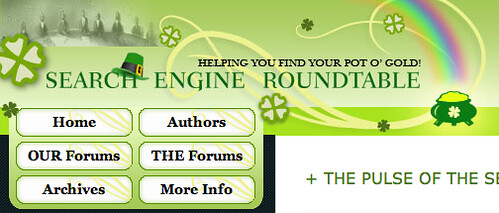 St Patrick's Day Theme at Search Engine Roundtable