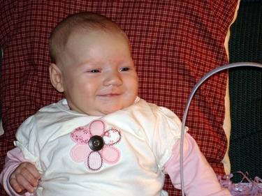 Josie smiles