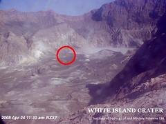 White Island - Webcam auf dem Kraterrand