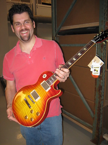 Zac with Gibson VOS 1959 Les Paul