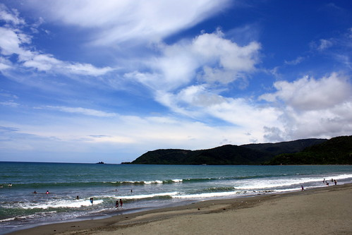 Baler beach in the afternoon