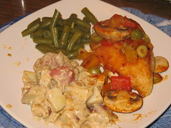 Durango Chicken, Caesar Scalloped Potatoes and Curried Green Beans