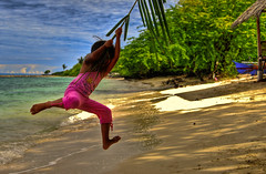 swing, swing (docjabagat) Tags: sea beach girl fun swing mowgli fabulous abigfave