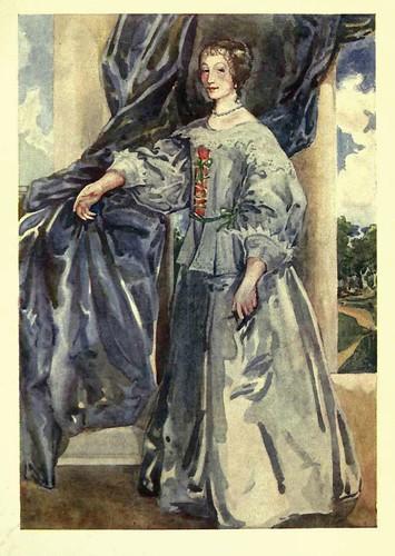 19- Vestimenta mujer epoca Carlos I (1625-1649)