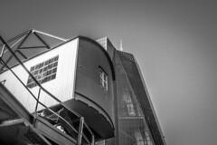 EZB Osthafen (Marcnifico) Tags: ezb osthafen hafen schwarzweis europäischezentralbank frankfurt franfurtammain skyscraper
