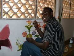 Volunteer art teacher came to paint the girls dorm