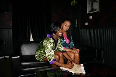 Cherise & Nadia from Booty Luv signing pants for Pocket TV (Pocket TV) Tags: nadia pants sonyericsson interview eurovision cherise bigbrovaz pockettv bootyluv mattedmondson