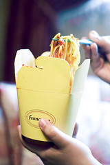 For the Love of the Box (FUNKYAH) Tags: food canon 50mm yummy italian box takeout spaghetti