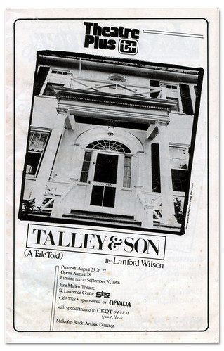 Talley and Son Playbill Cover