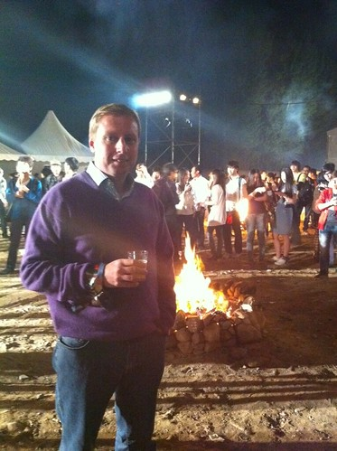 Having fun at the Tudou after party!