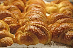 croissants just out of the oven