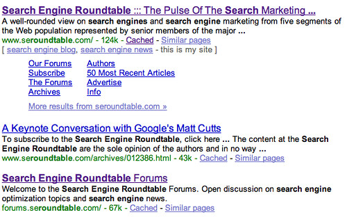 Search Engine Roundtable search in Google