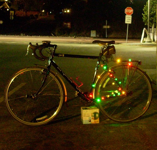 Bicycle Christmas lights