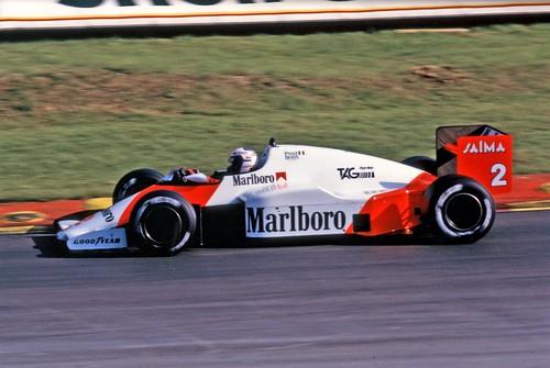Alain Prost McLaren Tag MP4/2B 1985 Brands Hatch European GP