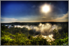 Into the sun (Kaj Bjurman) Tags: brazil sky green water clouds eos do waterfalls iguazu hdr foz kaj 2007 cs3 photomatix supershot 40d bjurman