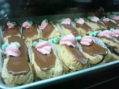 Eclairs at Caffe Roma, NYC