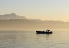 Fishing - Fischer am Bodensee (Heiko Brinkmann) Tags: water germany landscape deutschland boat fishing fishermen bodensee waterscape saentis lakeconstance badenwuerttemberg mywinners anawesomeshot hickoree