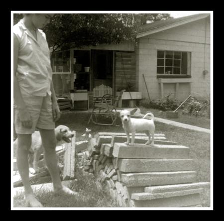 back porch at grandmama's