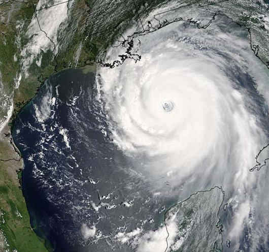 Satellite View of Katrina by NASA2
