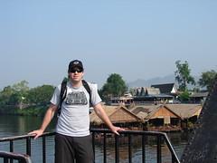 Simon on the River Kwai (pezmerised) Tags: bridge river thailand kwai
