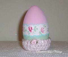 Hand Painted Wooden Easter Egg (Southern Lady's Vintage) Tags: pink easter holidays cottage handpainted cottagestyle homedecor holidaydecor eastereggs shabby pinkroses paintedeggs decoratedeggs easterdecor cottagechic woodenegg cottagehomedecor handpaintedeggs crochetcozy hproses pinkeaster southernladysvintage romantichomedecor shabbyeaster shabbyeggs