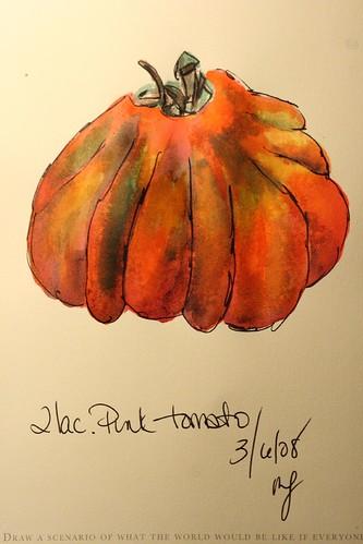 the pumpkin tomato