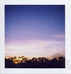 (gabo_) Tags: blue sky film square polaroid todayssunset polaroidsquareshooter2 packfilm89