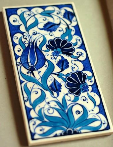 Handmade Turkish iznik tile from Istanbul